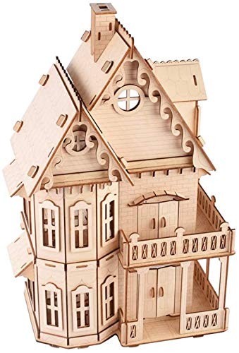 YUKM Gothic Villa, 3D Adult Wooden Puzzle, Cool Wooden Model Kit, Home Decoration, Hand-Assembled Kit, Gift for Boyfriend, Husband, Christmas, Birthday
