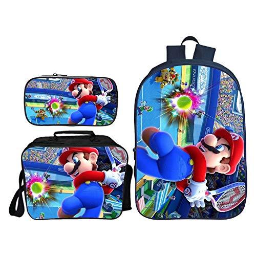 Backpack Morral De Los Niños De 3 Piezas De Mario 3D Impresión...