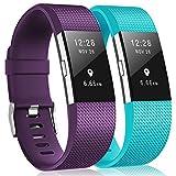 Bracelet Fitbit Charge2, bracelet de remplacement multicolore pour Fitbit Charge2, 12-Purple,Teal