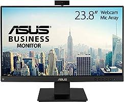 """Asus BE24EQK - Monitor de negocio de 23.8"""" (Full HD, IPS, sin marco, antiparpadeo, luz azul de baja intensidad, cámara..."""