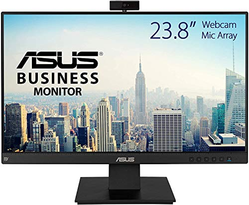 """Asus BE24EQK - Monitor de negocio de 23.8"""" (Full HD, IPS, sin marco, antiparpadeo, luz azul de baja intensidad, cámara Full HD, matriz de micrófonos y altavoces estéreo)"""