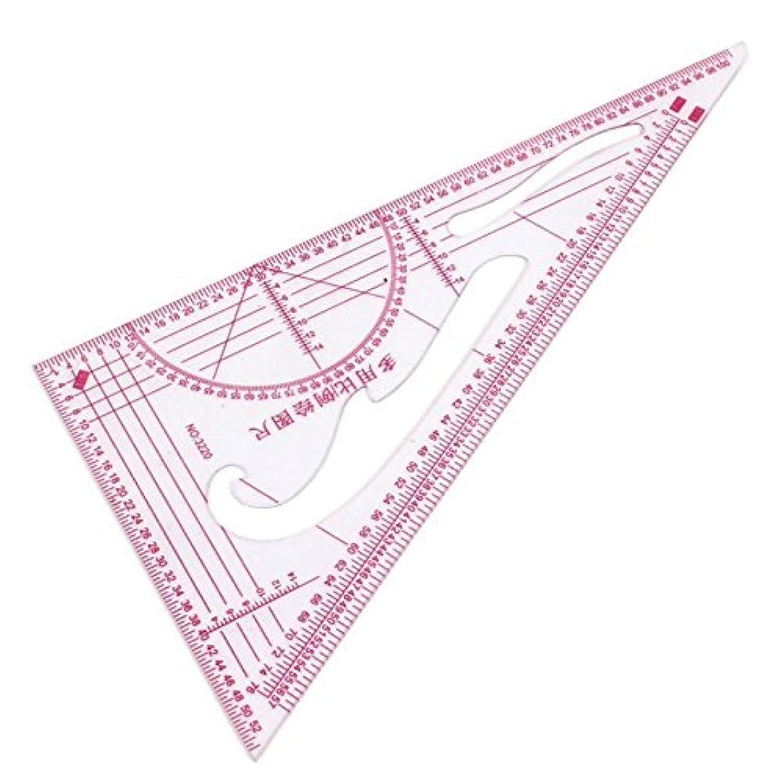 生き返らせるストリーム成り立つVaorwne 衣類1:3 1:4 1:5 シェア90度三角スケールの定規 2パーツ
