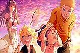 Puzzle 1000 Piezas Familia Naruto 75x50CM nteligencia Jigsaw Puzzlesde Suelo para Niños Adultos Regalo para niños y AdultosRompecabezas de Juguete de Interior