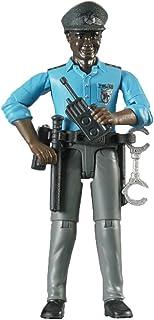 Bruder Policeman Dark Skin Toy Figure with Accessories