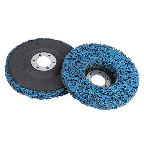 Kirmax 2Pcs 100X16Mm Poly Strip Disco Abrasivo Rueda Pintura EliminacióN de óXido Limpiar para Amoladora Angular