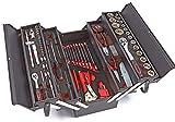 Caja de herramientas con modulos EVA y carracas de 1/4' y 1/2', 85 piezas formato cofre