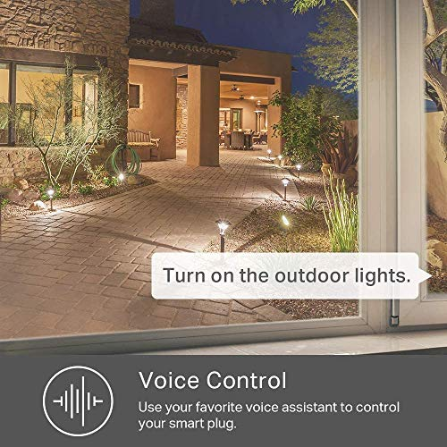 Kasa Outdoor Smart Plug by TP-Link, Smart Home Wi-Fi Outlet with 2 Sockets, Works with Alexa & Google Home, No Hub Required, Remote Control, Sunset & Sunrise Offset (KP400)