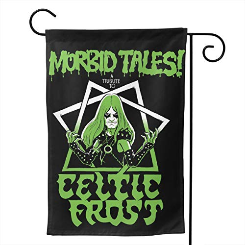 GloriaNguyen Celtic Frost Garden Flag Welcome Banner Courtyard Vertical Double-Sided Decorative Flags