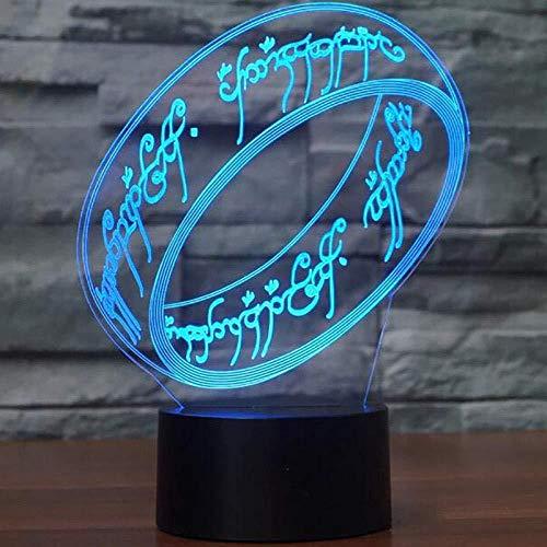 Luz Sinfónica 3D, Anillo De Luz De Noche Led, Control Remoto Usb, Lámpara De Mesa Táctil, Bombilla Óptica, 7 Variaciones De Color, Decoración Del Hogar