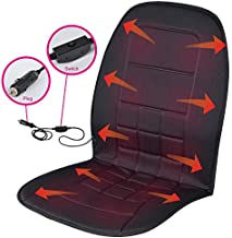 BDK SC-056 Travel Warmer - Heated Seat Cushion for Car, CUB, Van 12-Volt Padded Thermal Release