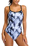 ALove One Piece Athletic Swimsuits for Women Fitness Sport Swimwear...