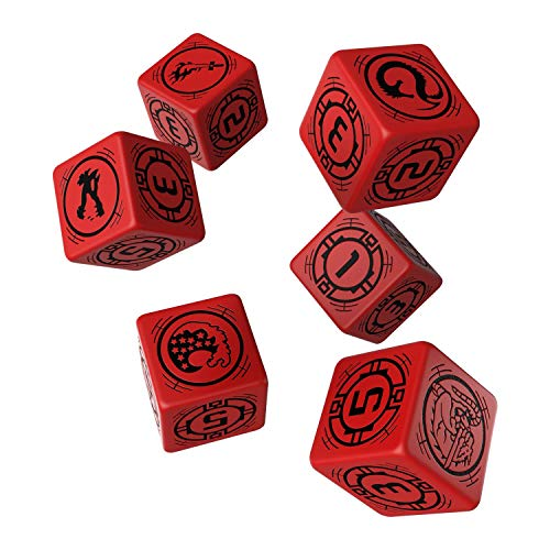 Q Workshop Battletech House Kurita RPG Dice Set 6 x D6
