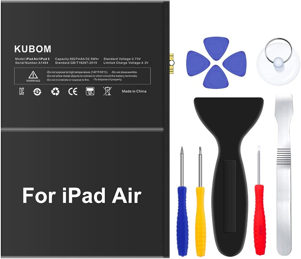 KUBOM Replacement Battery for iPad Air 0 or Clearance SALE Limited time Full 5 Cheap mail order shopping 8827mAh