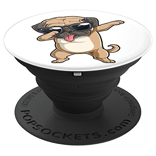 Dabbing Pug Funny Boys Girls Dab Dance Dog Puppy Lovers Gift PopSockets Grip and Stand for Phones and Tablets