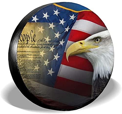 Símbolos patrióticos de los EE. UU.Cubierta de neumático de repuesto,poliéster,universal,16 pulgadas,cubierta de neumático de repuesto para remolque,RV,SUV,camión,camión,camper,accesorios de remolque