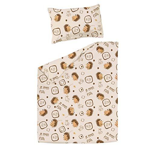Erizos Pati'Chou maxicuna 70x140 cm Juego de Sábanas 100% Algodón (funda de almohada, bajera y sábana)