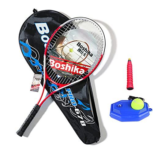 Roeam Racchette da Tennis Unisex Adulto Alluminio Racchetta da Tennis Leggera Antiurto con Borsa per Il Trasporto da Allenamento e Impugnatura da Tennis