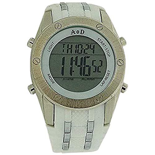 Angel Or Demon AOD01 Armbanduhr, Silikonarmband, Weiß