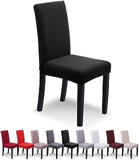 SaintderG® Stuhlhussen 4 Stück Elastische Moderne Beschützer Stuhlhussen, Hochzeit Partys Bankett Deko, bi-Elastic Spannbezug, sehr pflegeleicht und langlebig Universal (Schwarz, 4 Stück)