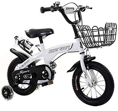 Electric Bike Electric Mountain Bike, Kid's Bike,Children's Bike, 3-5 Years Girls/Boys Childrens Training Bicycle with Training Wheels And Hand Brakes, with Water Bottle Holder for the jungle trails,