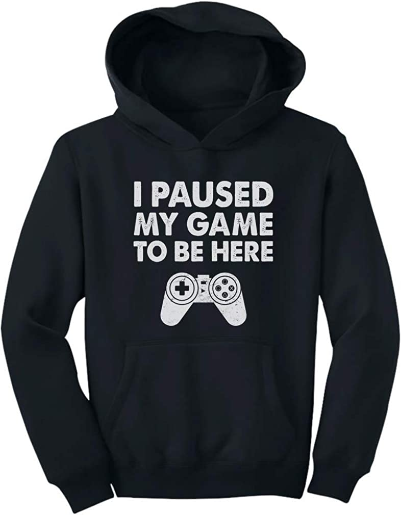 Tstars Brand Cheap Sale Venue - I Paused Outlet SALE My Game To Gift For Be Funny Here Adult Hoodie