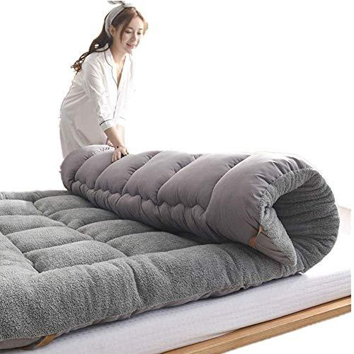 WSGJHB Japanse Tatami vloer matras topper, zachte en ademende Futon matrasmat, dubbele enkele student slaapzaal opvouwbare matrasdikte 5cm bed matrassen 150x200cm(59x79inch) E