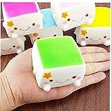 Juguete blando lento aumento de la chuchería de Colgante Mini Soft Tofu Squeeze aliviar el estrés para los niños Crema suave perfumado de la chuchería