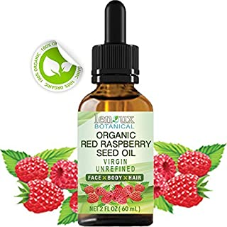 RED RASPBERRY SEED OIL ORGANIC. 100 % PURE VIRGIN UNREFINED COLD PRESSED . For Skin, Hair, Lip and Nail Care (2 Fl.oz. - 60 ml.)