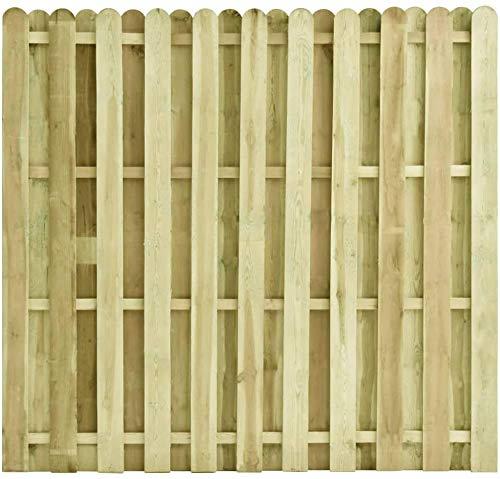 CFG Puerta de jardín placa de madera Puertas batientes impregnadas madera de pino al aire libre Panel de valla de jardín, paneles de madera,valla de jardín de madera, valla de madera de 180 x 170 cm