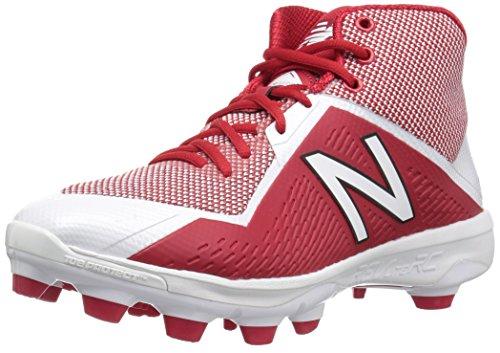 New Balance Herren 4040V4 Mid Molded Spike Baseballschuh, rot/weiß, 47 EU