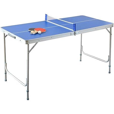 ottostyle.jp 折りたたみ 卓球台 セット 屋外で卓球 ピンポン ラケット付 コンパクト ファミリー ピンポン台
