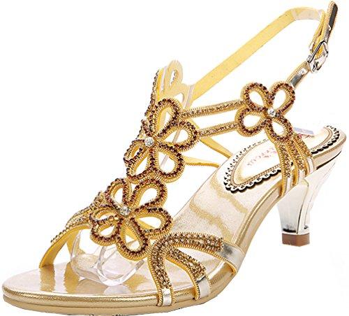 Salabobo L016 Sandalias de tacón sexy para mujer, brillantes y bonitas prestaciones...