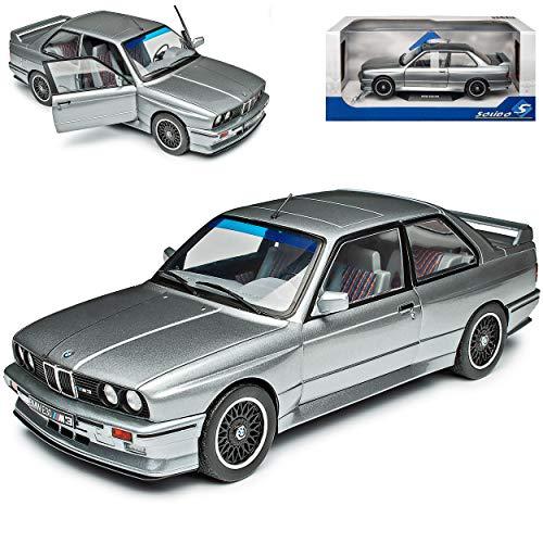 B-M-W 3er E30 M3 Coupe Sport Evolution Silber Grau Metallic 1982-1994 1/18 Solido Modell Auto