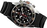 【JMW TOKYO】腕時計 メンズ 上級 ソーラーダイバー ブラック&ゴールド (200m防水 クロノグラフ) ソーラーウォッチ【世界限定300本】