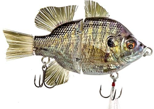 4.5' RF Gillman Glide Bait Bass Musky Striper Fishing Big Lure Multi Jointed Shad Trout Kits Slow Sinking or Floating (4.5' Bream Bluegill Sink)
