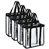 Fasmov Set of 4 Vinyl Record Storage Bags Hold up to 144 Albums (36 Each Bag)