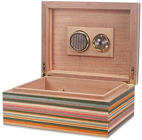 Sterke verzegelde auto-humidor met luchtbevochtiger en Sigari Box set, duurzaam & elegant hout design, functionele high-end voor sigaren