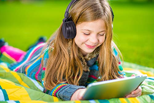 Monodeal Kids On Ear Headsets with Active Noise Cancelling, Children Girls Boys Teens Adults Foldable Adjustable Wired Headphones Compatible with iPad Cellphones Computer Tablet MP3/4 Study Airplane