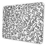 N\A Tappetino per Mouse Keith-Haring Tappetino per Mouse Antiscivolo - Ampio Tappetino da scrivania Portatile per Computer Portatili, Ufficio e Accessori per la casa