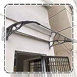 Marquesina Puertas Exterior, Silencio Porche del Patio De La Ventana Claro Panel De Policarbonato, Protección VU De Lluvia De Nieve, Fácil De Instalar (Size : 60x60cm)