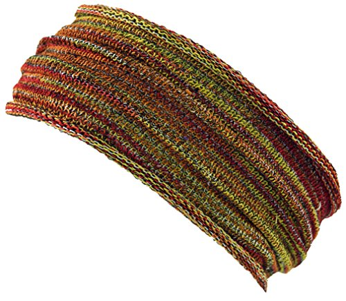 Guru-Shop Magic Hairband, Dread Wrap, Schlauchschal, Stirnband, Herren/Damen, Haarband Rot/gelb, Baumwolle, Size:One Size, Stirnbänder Alternative Bekleidung