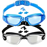 EverSport Swim Goggles, 2-Pack, Swimming Goggles, Mirrored Lens, for Adult Men Women Youth Kids Child,...