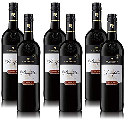 Rotwein Rheinberg Dornfelder Rotwein Pfalz QbA, lieblich, sortenreines Weinpaket (6 x 0,75 l)