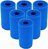 LXTOPN - Esponja filtrante tipo A, esponja para filtro de piscina para Intex Tipo A, espuma para filtro de piscina, filtro Spa para Intex reutilizable,lavable reutilizable (6 unidades)