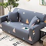 Norte de Europa Elasticidad Fundas para Sofa Poliéster impresión funda del chaiselonge 1 Pieza Con espuma antideslizante Tela sofás cubre Prueba de Polvo Anti arrugas(Size:3 Seater,Color:Style 6)