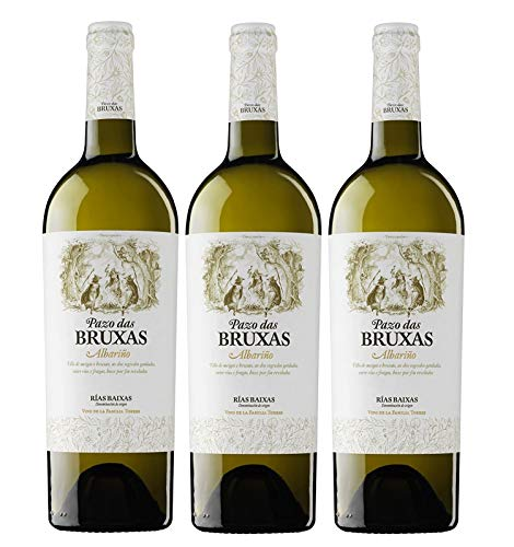 Pazo Das Bruxas, Vino Blanco - 3 botellas de 75 cl, Total: 2250 ml