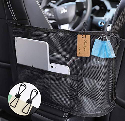 YIMINU.DS Organizador de coche entre asiento, soporte para bolso para coche, organizador de malla de coche, bolsillo para red de coche,...