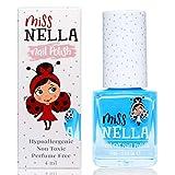 Miss Nella MERMAID BLUE- azul Esmalte especial para uñas para niños, fórmula despegable, a base...