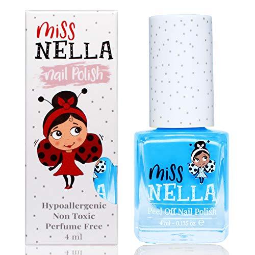 Miss Nella MERMAID BLUE abziehbarer Nagellack speziell für Kinder, Blau, Peel-Off-Formel, ungiftig, wasserbasiert und geruchsneutral
