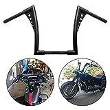 Motorcycle Rise Batwing Ape Handlebar Hanger Bar Fit for Harley Softail FLST FXST Sportster XL (14'', Black)